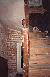 Interior view of No 53, original 17th century staircase