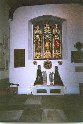 Picture of William Gerard's monument inside St Mary's Church
