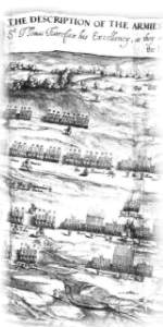 Sprigges plan of the Battle of Naseby 1645